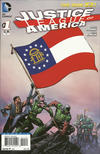 Cover for Justice League of America (DC, 2013 series) #1 [Georgia Flag Cover]