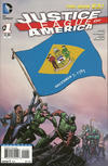 Cover for Justice League of America (DC, 2013 series) #1 [Delaware Flag Cover]