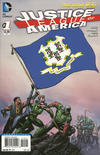 Cover for Justice League of America (DC, 2013 series) #1 [Connecticut Flag Cover]