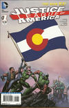 Cover for Justice League of America (DC, 2013 series) #1 [Colorado Flag Cover]