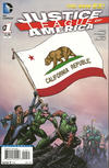 Cover for Justice League of America (DC, 2013 series) #1 [California Flag Cover]