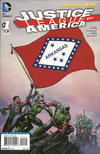 Cover for Justice League of America (DC, 2013 series) #1 [Arkansas Flag Cover]