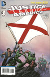 Cover for Justice League of America (DC, 2013 series) #1 [Alabama Flag Cover]