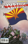 Cover for Justice League of America (DC, 2013 series) #1 [Arizona Flag Cover]