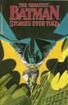 Cover for The Greatest Batman Stories Ever Told (Warner Books, 1989 series) #[nn]