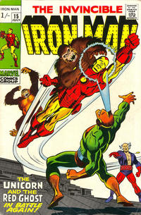 Cover for Iron Man (Marvel, 1968 series) #15 [British Price Variant]