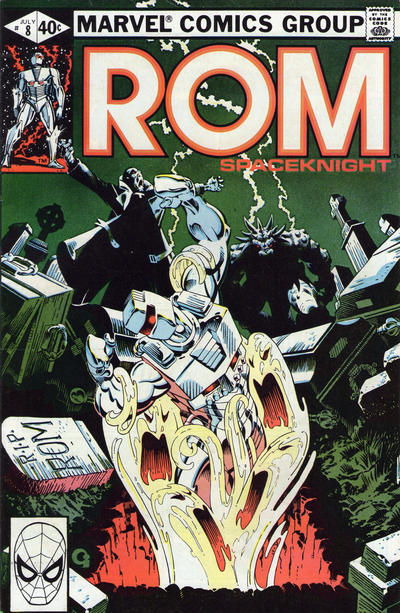 Cover for ROM (Marvel, 1979 series) #8 [Newsstand Edition]