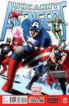 Cover for Uncanny Avengers (Marvel, 2012 series) #4 [Avengers #4 Kirby Homage]