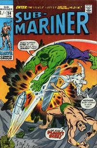 Cover Thumbnail for Sub-Mariner (Marvel, 1968 series) #34 [British price variant.]