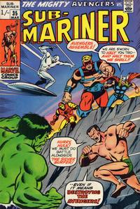 Cover Thumbnail for Sub-Mariner (Marvel, 1968 series) #35 [British price variant.]