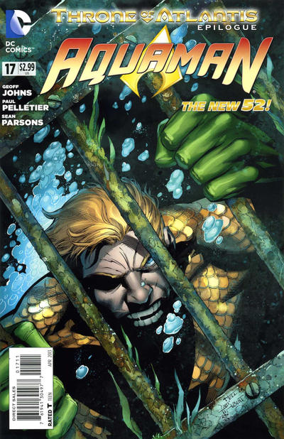 Cover for Aquaman (DC, 2011 series) #17 [Paul Pelletier Standard Cover]