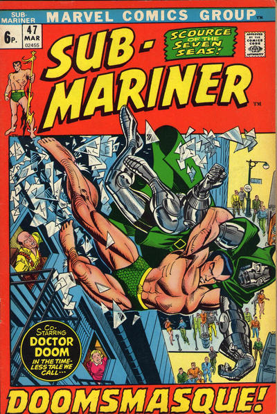 Cover for Sub-Mariner (Marvel, 1968 series) #47 [British price variant.]