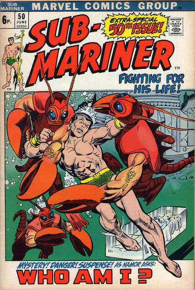 Cover for Sub-Mariner (Marvel, 1968 series) #50 [British price variant.]