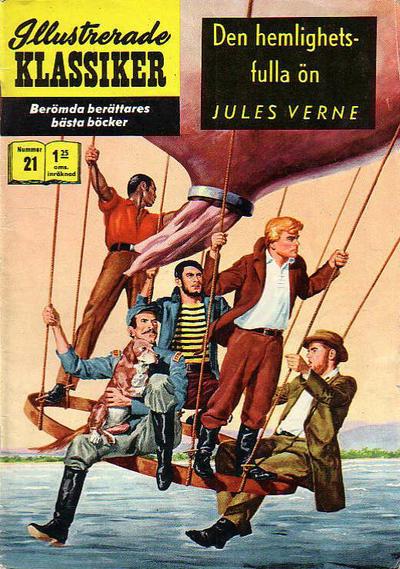 Cover for Illustrerade klassiker (Williams Förlags AB, 1965 series) #21 [HBN 165] (3:e upplagan) (Vasa) - Den hemlighetsfulla ön