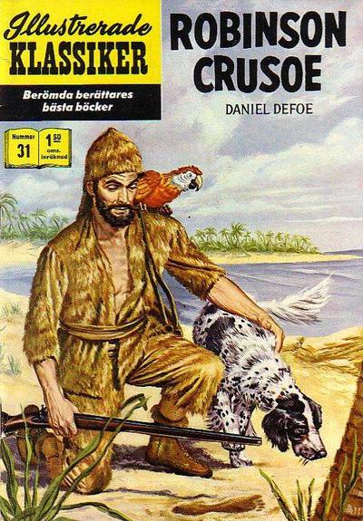 Cover for Illustrerade klassiker (Williams Förlags AB, 1965 series) #31 [HBN 165] (5:e upplagan) - Robinson Crusoe