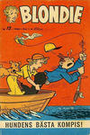 Cover for Blondie (Åhlén & Åkerlunds, 1956 series) #13/1960