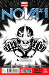 Cover Thumbnail for Nova (2013 series) #1 [2013 ComicsPro Sketch Variant by Ed McGuinness]