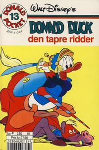 Cover Thumbnail for Donald Pocket (Hjemmet / Egmont, 1968 series) #13 - Donald Duck den tapre ridder [3. opplag Reutsendelse 330 15]