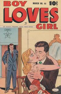 Cover Thumbnail for Boy Loves Girl (Lev Gleason, 1952 series) #44