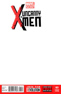 Cover Thumbnail for Uncanny X-Men (Marvel, 2013 series) #1 [Blank Variant]