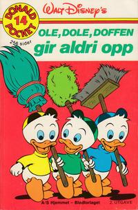 Cover Thumbnail for Donald Pocket (Hjemmet / Egmont, 1968 series) #14 - Ole, Dole, Doffen gir aldri opp [2. opplag]