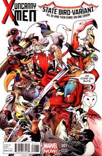 Cover Thumbnail for Uncanny X-Men (Marvel, 2013 series) #1 [Deadpool State Birds Variant by Stuart Immonen]