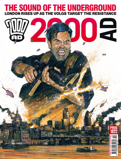 Cover for 2000 AD (Rebellion, 2001 series) #1822
