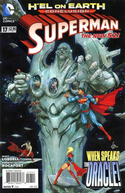 Cover for Superman (DC, 2011 series) #17 [Direct Sales]