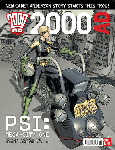 Cover for 2000 AD (Rebellion, 2001 series) #1780