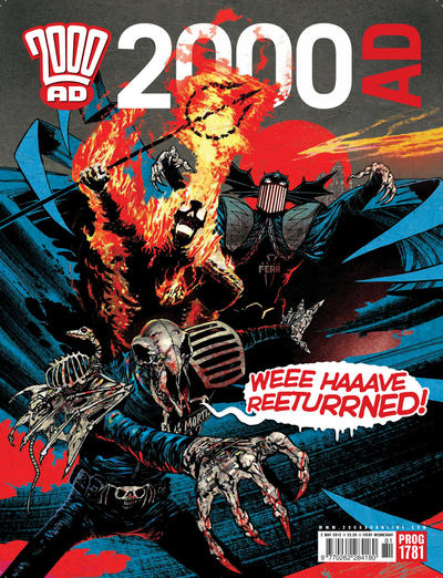 Cover for 2000 AD (Rebellion, 2001 series) #1781