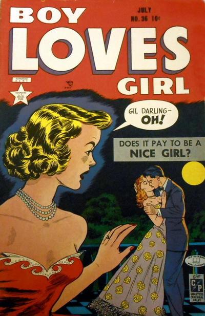 Cover for Boy Loves Girl (Lev Gleason, 1952 series) #36