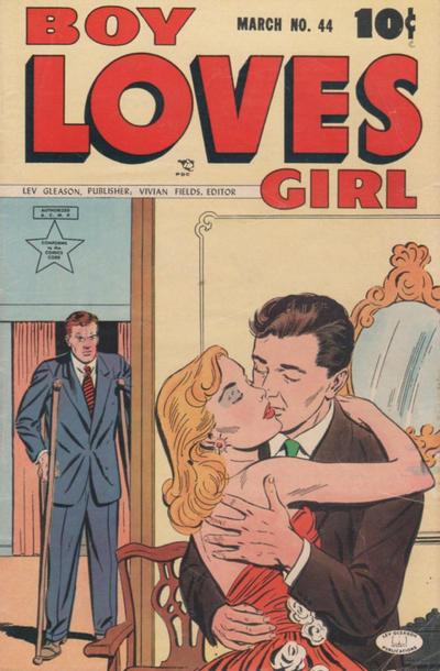 Cover for Boy Loves Girl (Lev Gleason, 1952 series) #44