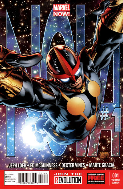 Cover for Nova (Marvel, 2013 series) #1 [Variant by Marcos Martin]
