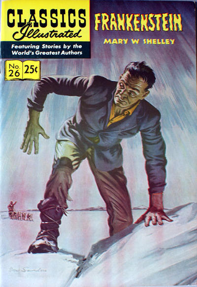 Cover for Classics Illustrated (Gilberton, 1947 series) #26 [HRN 146] - Frankenstein