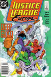Cover for Justice League Europe (DC, 1989 series) #2 [Newsstand]