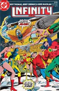 Cover for Infinity, Inc. (DC, 1984 series) #5