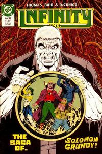 Cover Thumbnail for Infinity, Inc. (DC, 1984 series) #39