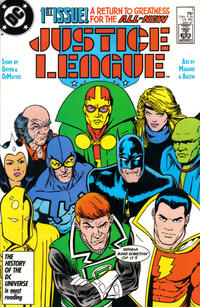 Cover Thumbnail for Justice League (DC, 1987 series) #1 [Direct]
