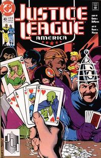 Cover Thumbnail for Justice League America (DC, 1989 series) #43 [Direct]