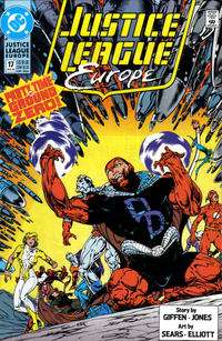 Cover Thumbnail for Justice League Europe (DC, 1989 series) #17 [Direct]