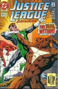 Cover Thumbnail for Justice League International (DC, 1993 series) #54