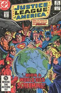 Cover for Justice League of America (DC, 1960 series) #210 [Direct Sales]
