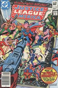 Cover Thumbnail for Justice League of America (DC, 1960 series) #218 [Newsstand]