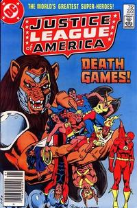 Cover Thumbnail for Justice League of America (DC, 1960 series) #222 [Newsstand]