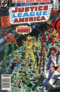 Cover Thumbnail for Justice League of America (DC, 1960 series) #229 [Newsstand]
