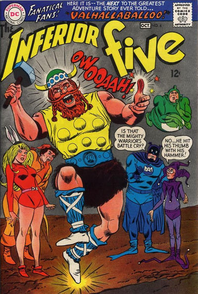 Cover for The Inferior Five (DC, 1967 series) #4
