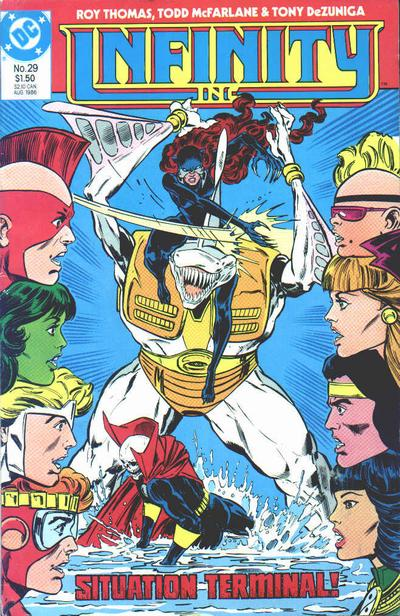 Cover for Infinity, Inc. (DC, 1984 series) #29