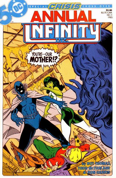 Cover for Infinity Inc. Annual (DC, 1985 series) #1