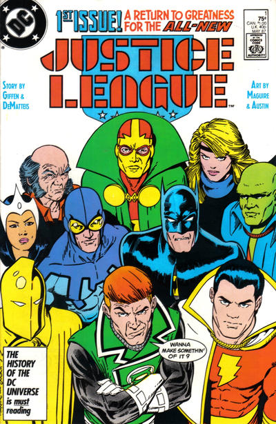 Cover for Justice League (DC, 1987 series) #1 [Direct]