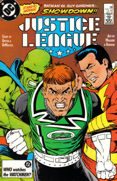Cover for Justice League (DC, 1987 series) #5 [Direct]